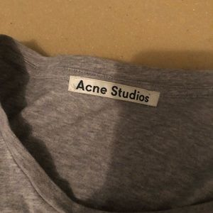 Acne Studios Gray Basic T-Shirt Sz. S
